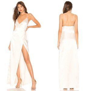 NWT About Us Coco High Slit Maxi Dress in White